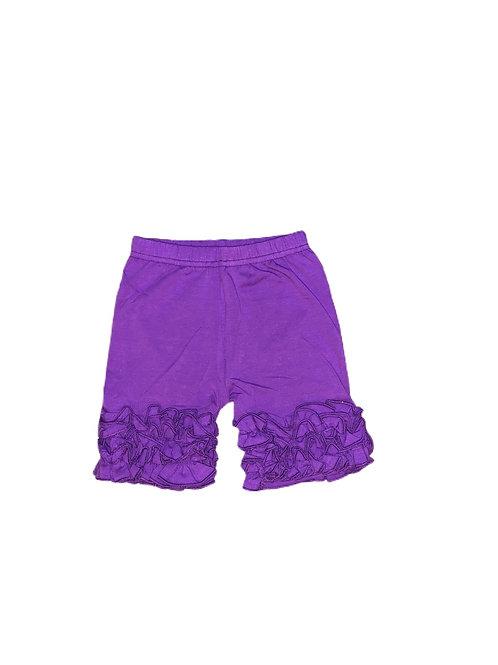 Icing Ruffle Shorts- Purple
