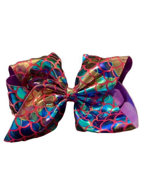 Purple Metallic Bow