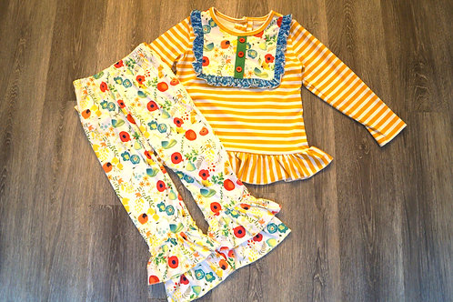 Floral Mustard 2 pc.