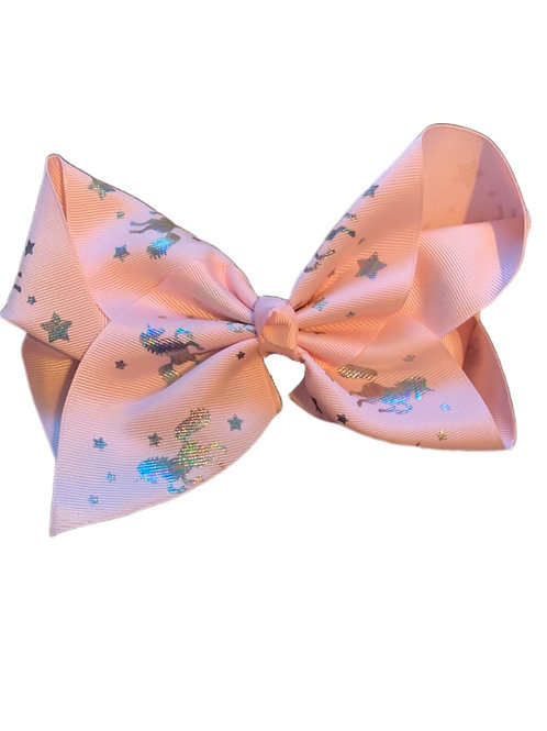 Pink Unicorn Bow