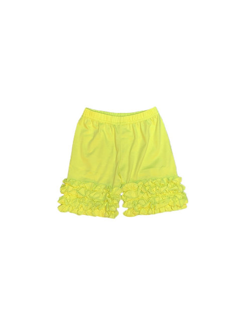 Icing Ruffle Shorts- Yellow
