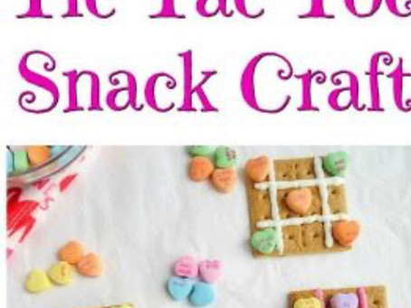Tic Tac Toe Snack Craft