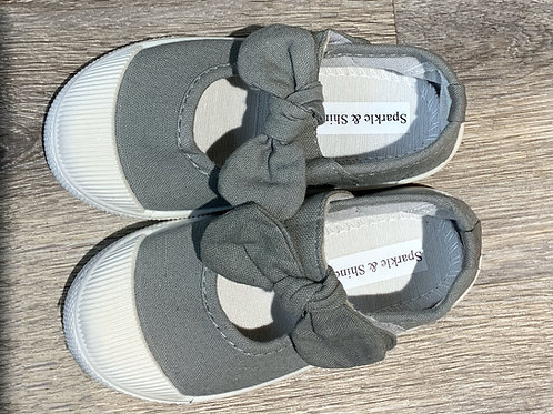 Bow-Knot Shoes Grey