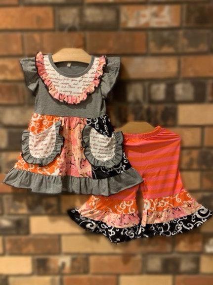 Pink & Orange Capris Set