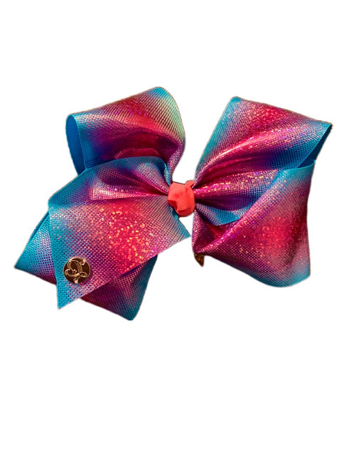 Pink & Blue Shimmer Bow