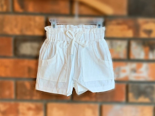 White Bow-Tie Shorts
