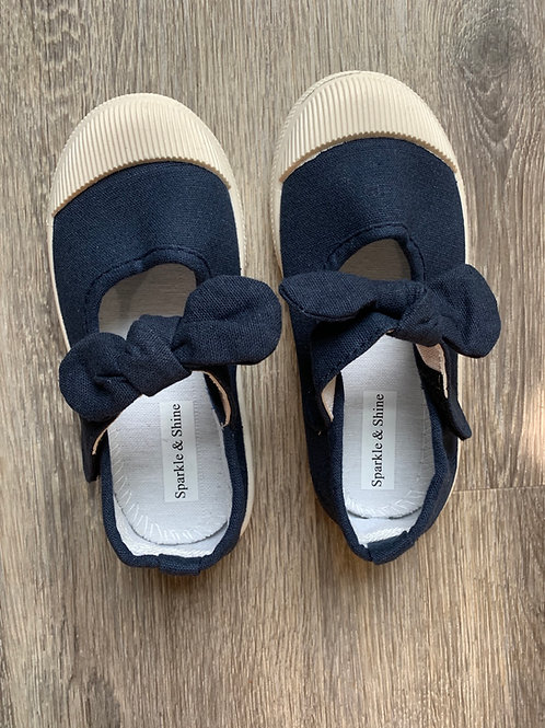 Bow-Knot Shoes- Navy