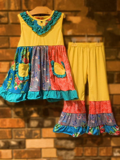 Sunny Unicorns Dress or 2 pc. Pant Set