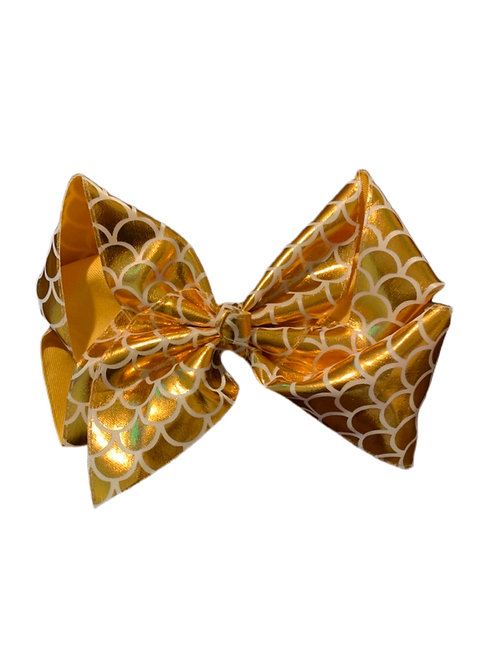 Orange Metallic Bow