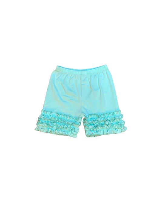 Icing Ruffle Shorts-Teal