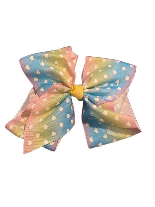 Rainbow Heart Bow