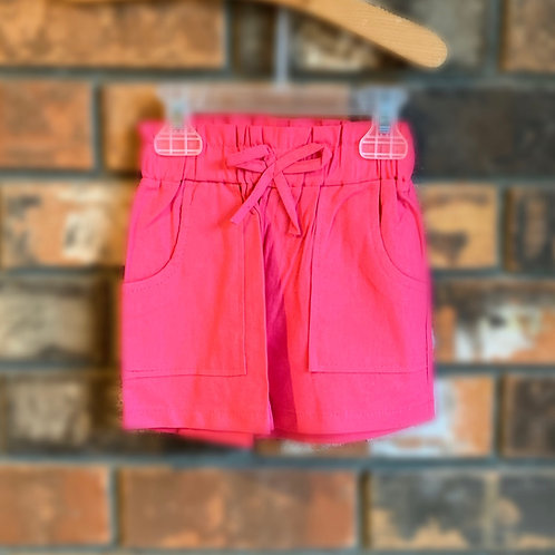 Hot Pink Bow-Tie Shorts