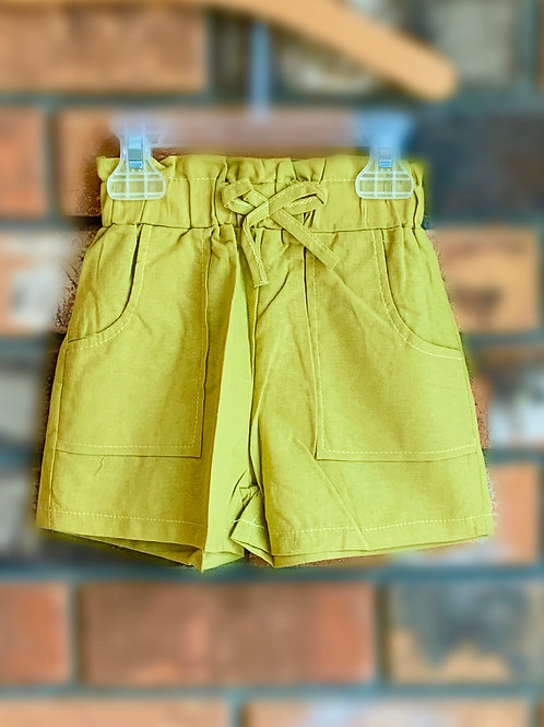 Olive Bow-Tie Shorts