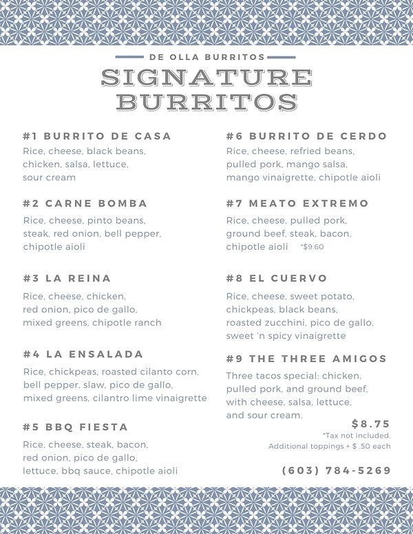 Signatures Menu - De Olla Burritos.jpg