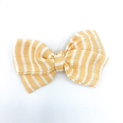 Butter Stripe Gauze Bow