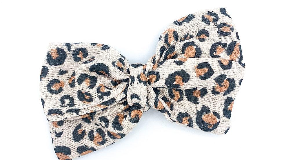 Mini Cheetah Gauze Bow