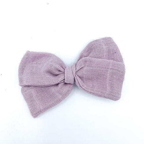 Lilac Gauze Bow