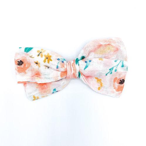 Peach Bouquet Gauze Bow