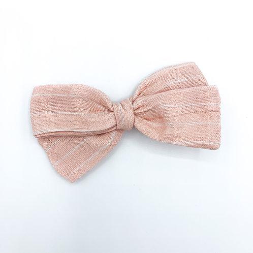 Pink Stripe Gauze Bow