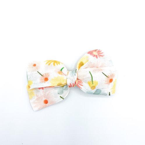 Spring Flower Toss Gauze Bow
