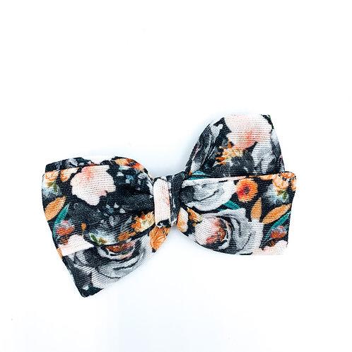Mini Spooky Halloween Floral Gauze Bow