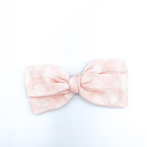 Mini Pink Lattice Gauze Bow