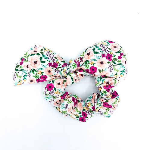 Berry Sweet Floral Scrunchie