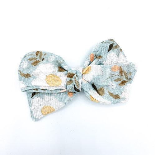 Vintage Blue Daisy Gauze Bow