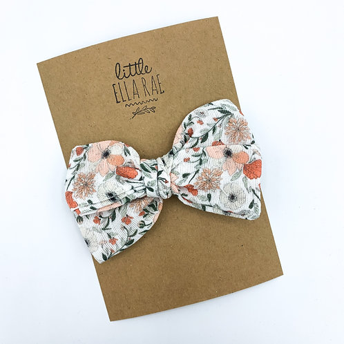 Pansy Floral Gauze Bow