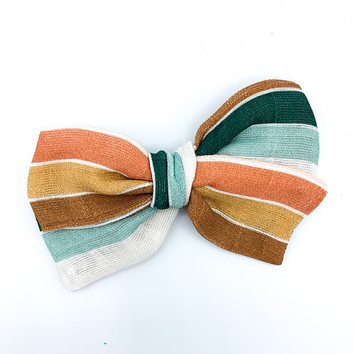 Juliet Park Stripe Gauze Bow
