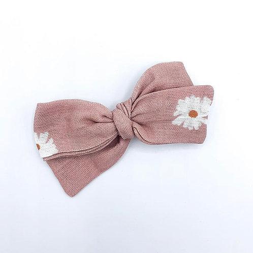 Rose Daisy Gauze Bow