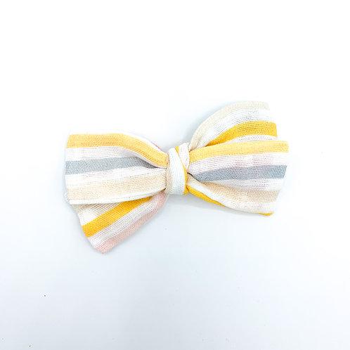 Spring Stripe Gauze Bow