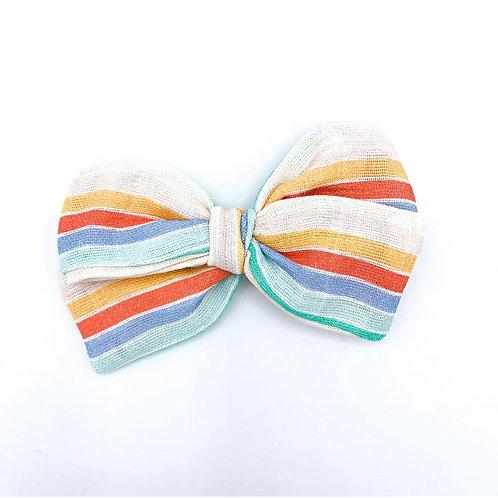 Mini Beach Towel Stripe Gauze Bow