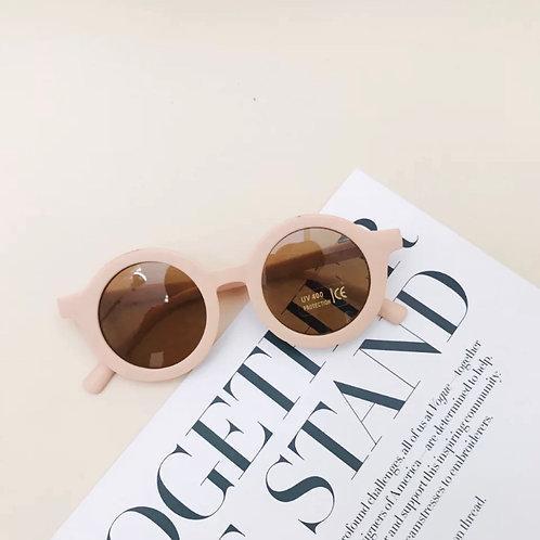 Blush Round Sunglasses