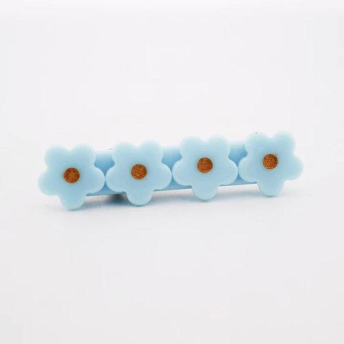 Baby Blue Flower Acrylic Hair Clip