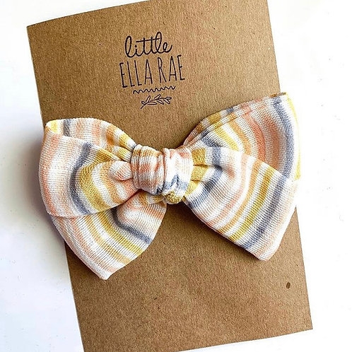 November Stripe Gauze Bow