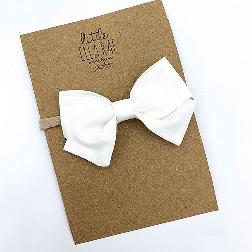 White Navy Bow
