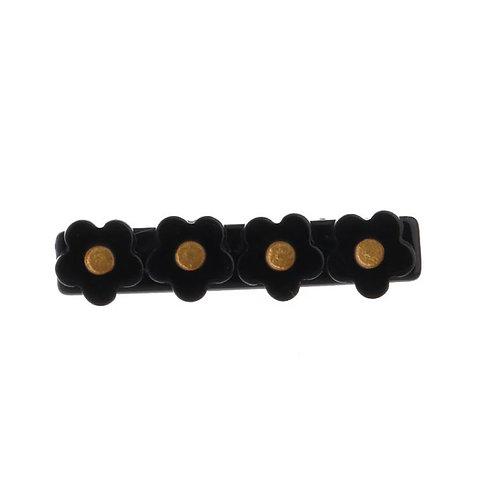 Black Flower Acrylic Hair Clip