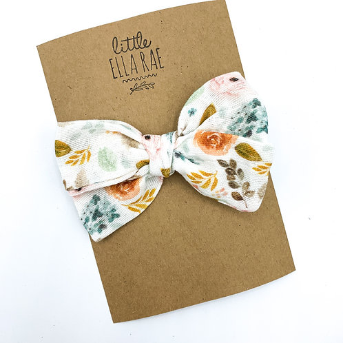 Sweetheart Floral Gauze Bow