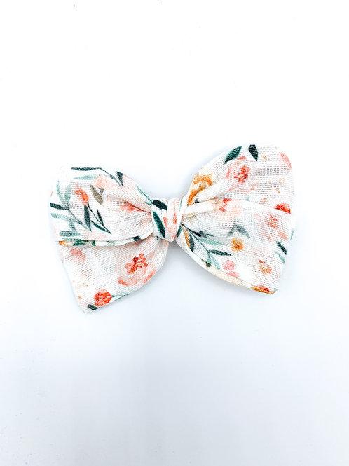 Mini Kauai Floral Gauze Bow
