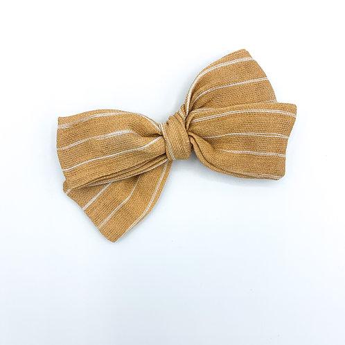 Mustard Stripe Gauze Bow