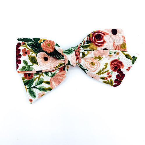 Summer Rose Floral Quincey Bow