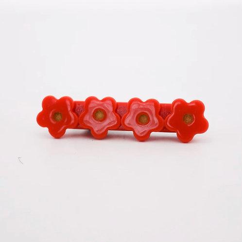 Apple Flower Acrylic Hair Clip