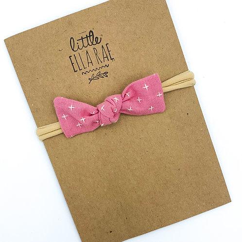 Pink Stitched Essie Bow