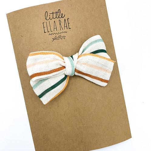 Mini Juliet Stripe Gauze Bow
