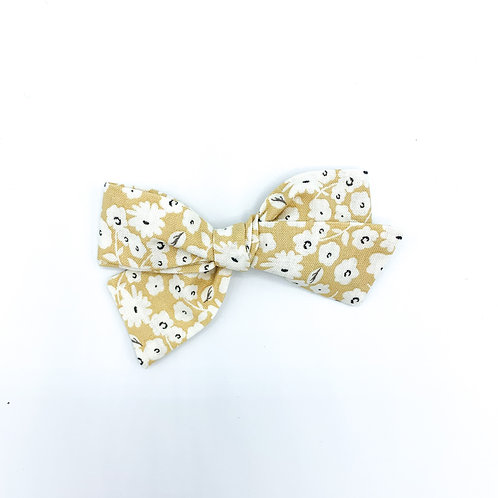 Goldenrod Floral Quincey Bow