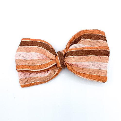 Modern Candy Corn Stripe Gauze Bow