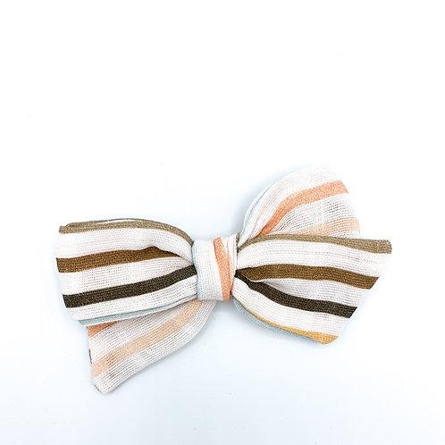 Vintage Summer Stripe Gauze Bow