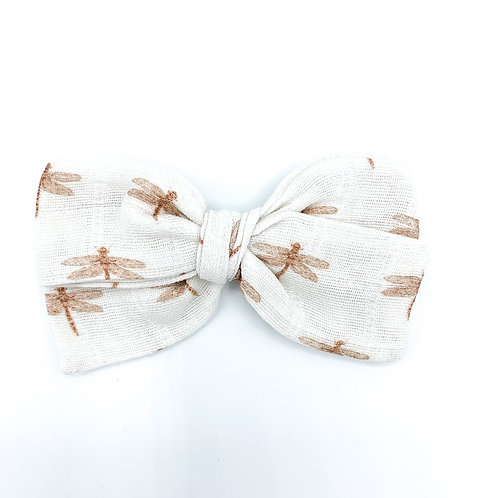 Copper Dragonfly Gauze Bow
