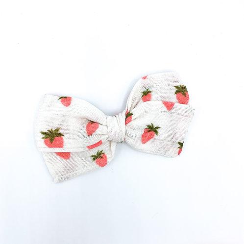 Strawberries Gauze Bow